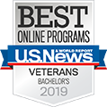 US News best online programs for veterans 2019 logo
