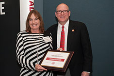 2016 Wounded Warrior Scholarship Recipient Deborah Fletcher and CTU President Andrew Hurst