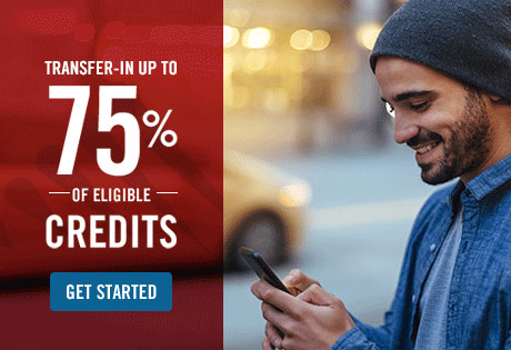 transfer-in up to 75% of eligible credits - get started