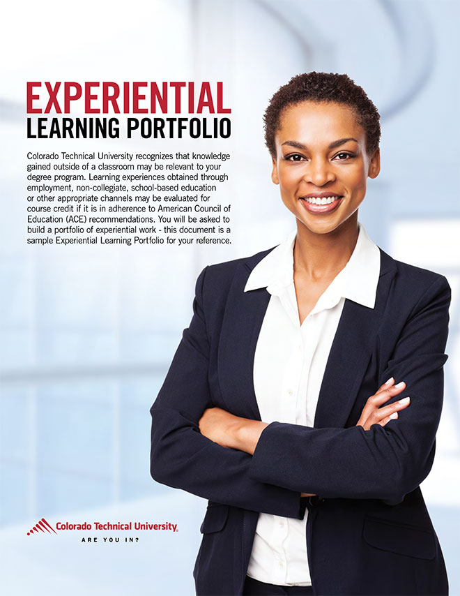Experiential Learning Portfolio Sample cover